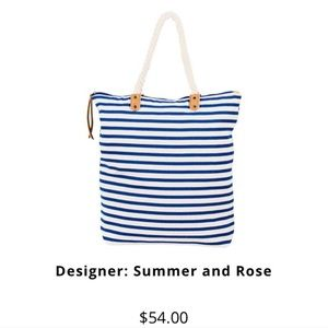 Summer & Rose nautical tote - new with tags